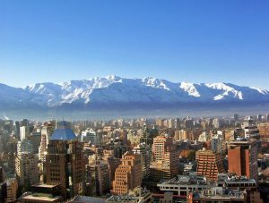 An aerial view of a city in Chile