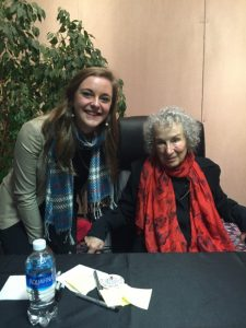 Margaret Atwood with English Major, Kalen Breland