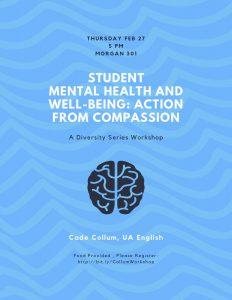 flyer for mental health workshop