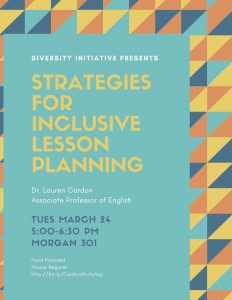 Strategies for Inclusive Lesson Planning flyer